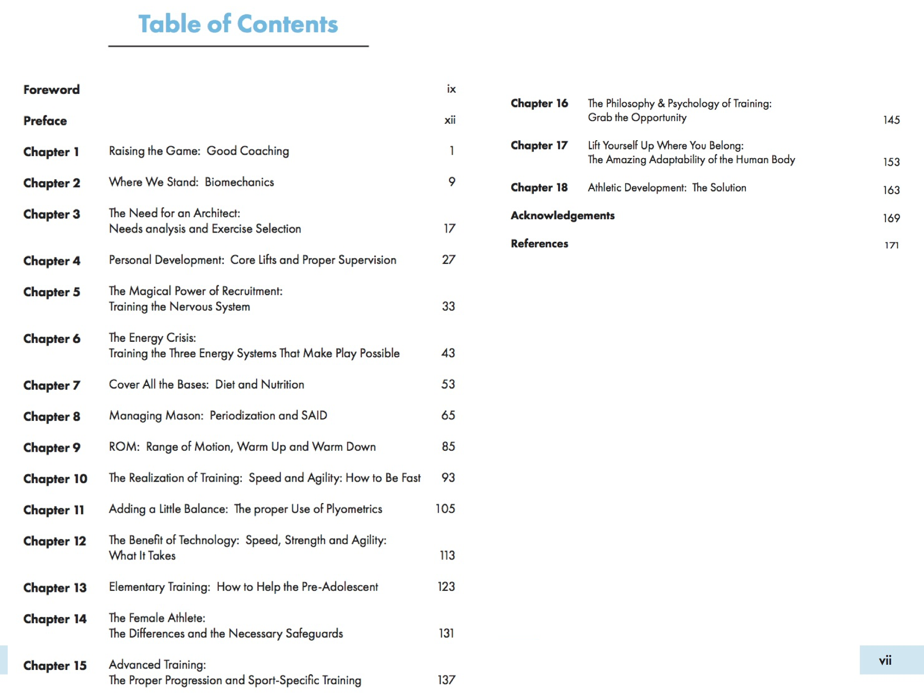 Raising the Game table of contents